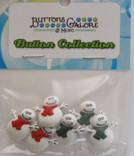 Snowmen Holiday Buttons by Buttons Galore Shank Back Snowmen Shape Buttons