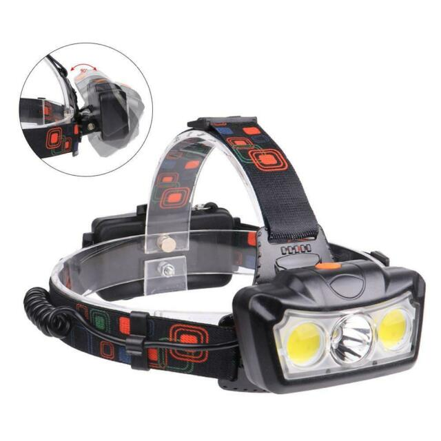 60000LM T6 COB LED Rechargeable Headlight Flashlight Camping Torch 18650 BR