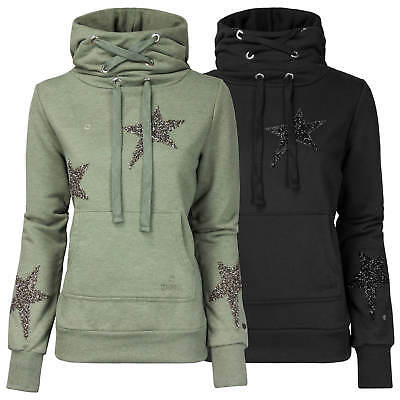 ZHRILL Damen Sweatshirt Sweater Hoodie Pullover Kapuze Kängurutasche Sterne | eBay