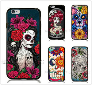 Sugar-Skull-Girl-Tattoo-Phone-Case-For-iPhone-iPod-Samsung-Galaxy-S-Note-Cover