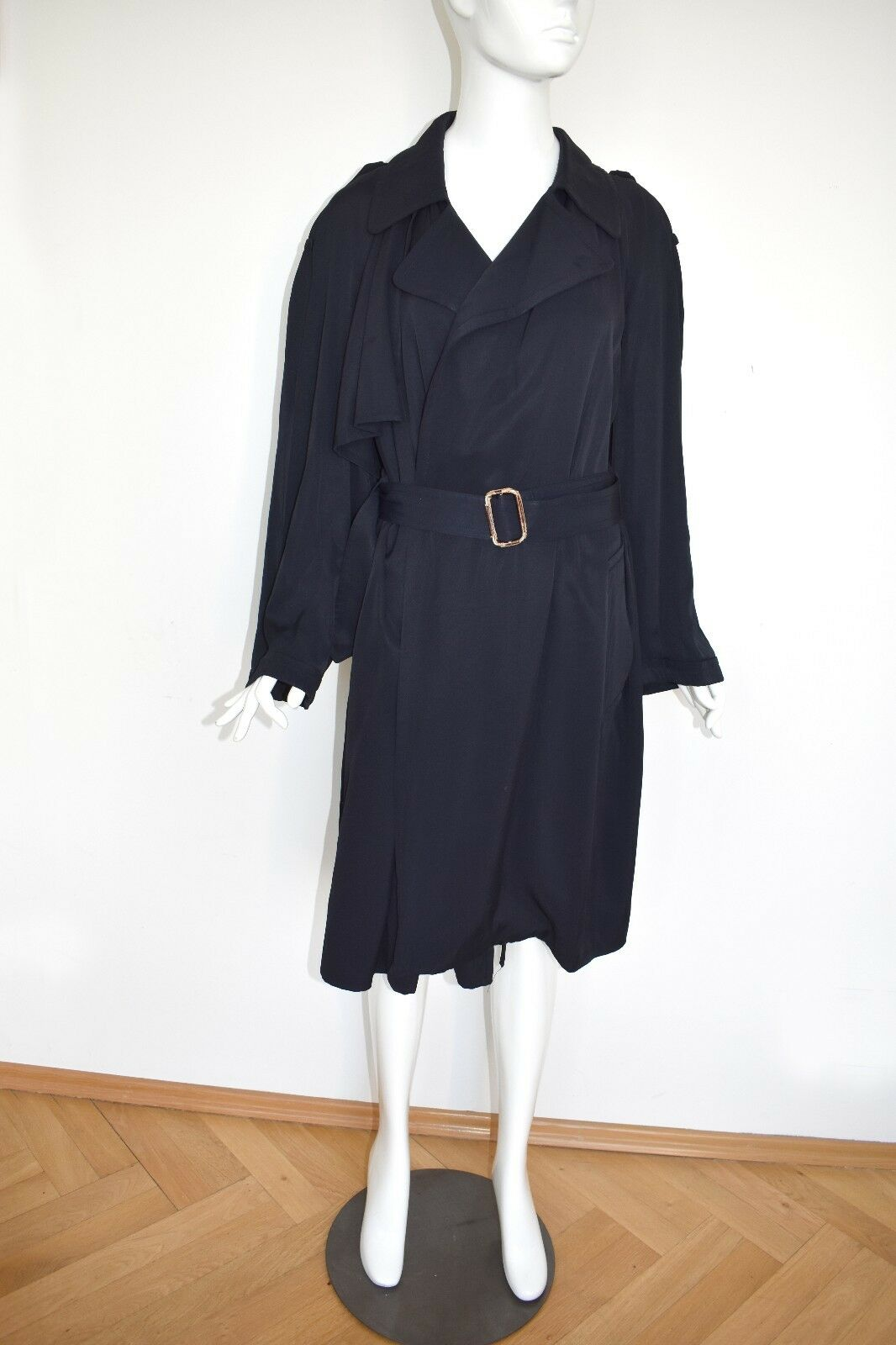 Jean Paul Gautlier trench coat bluee faille mantel dunkelblue amazing wow VINTAGE