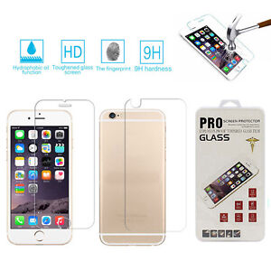 cheap for discount 7ec01 a3129 Details about Premium Real Front+Back Tempered Glass Film Screen Protector  For iPhone 6s Plus