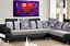 LOVE HEART Wall Art Picture Red Powder Grey Quote Canvas Print Split Panel 44/""