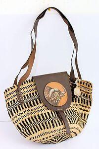 Hand-made-handbag-Africa-traditonal-Shoulder-BAG-tote-African-print-strap-purse