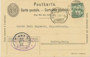 Suiza-1908-5-C-ga-postal-034-Winterthur-carta-post-034-con-5-C-verde-perfin