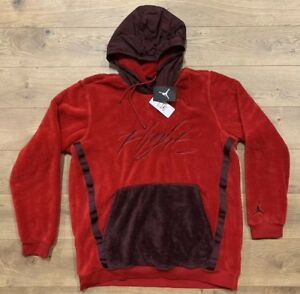 3f6c020003843a Nike Jordan NSW Wings Of Flight Sherpa Pullover Hoodie Red SZ L ...
