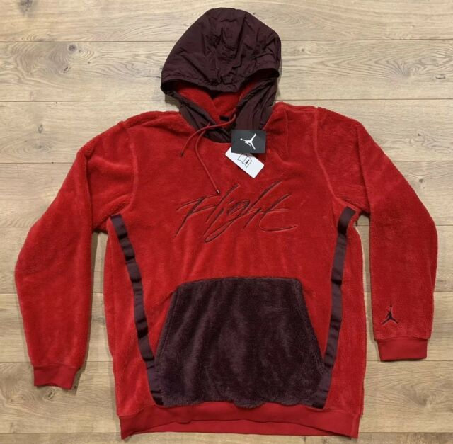 95084e9034936c Men s Nike Jordan Wings of Flight Sherpa Pullover Hoodie Ah6250 687 Size 2xl