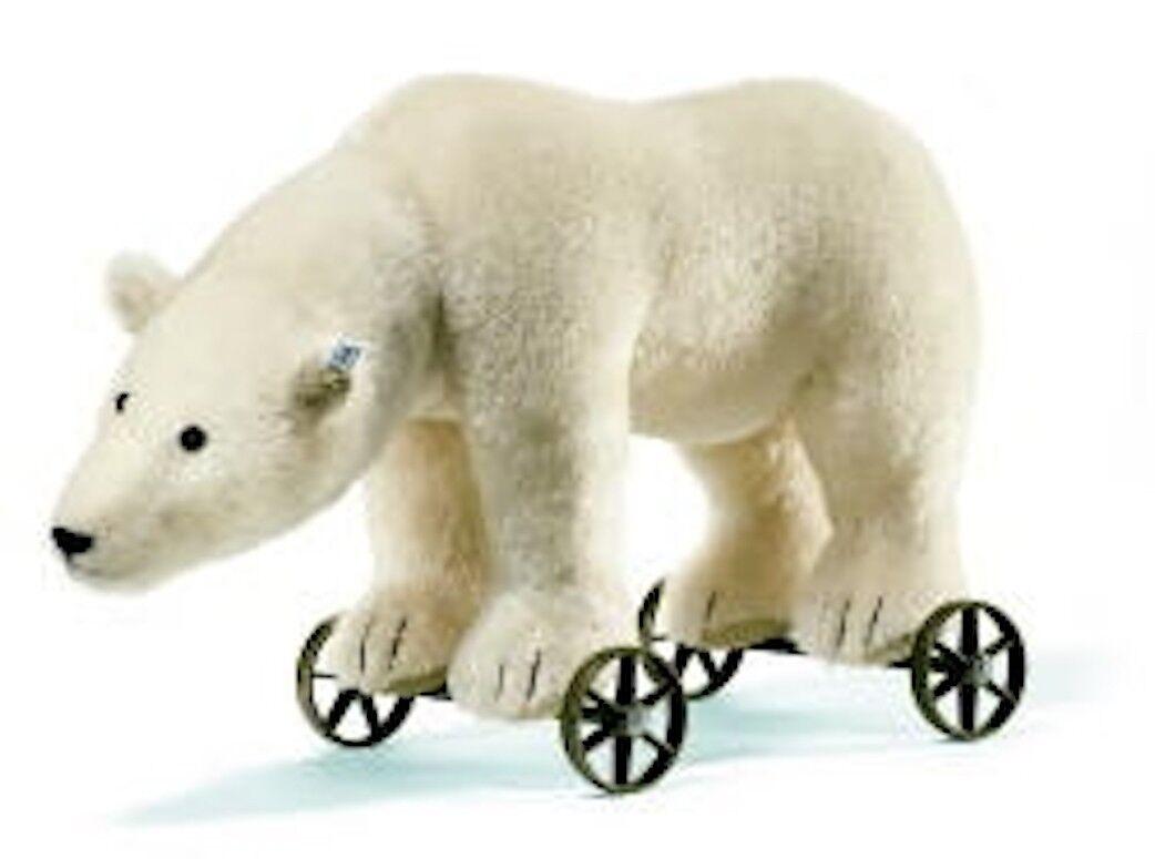 Steiff Reproduction Polar Bear on Wheels