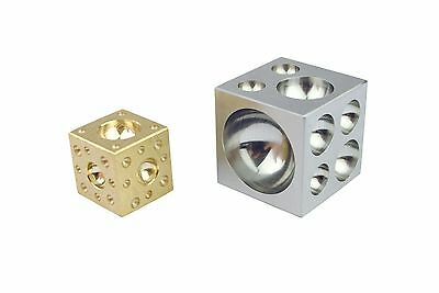 "2"" 50mm Solid Steel Block & 25mm Brass Doming Dapping Metal Block Set J1416"