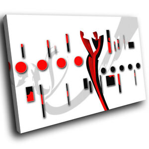 ZAB488-Red-Black-White-Cool-Modern-Canvas-Abstract-Home-Wall-Art-Picture-Prints