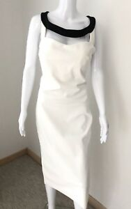 61c75261e2a La Petite Robe di Chiara Boni Sleeveless Cut Out Maude White Black ...