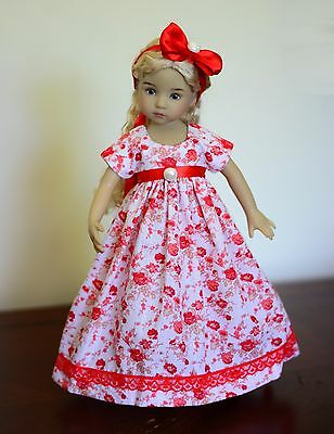 """Red Roses"" Regency Dress, Outfit, Clothes for 13"" Dianna Effner Little Darling"