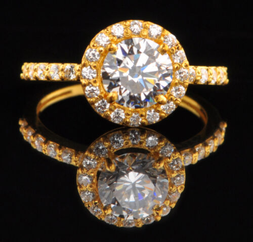 3.10 Carat 14KT Solid Yellow Gold Marvelous Round Shape Solitaire Wedding Ring