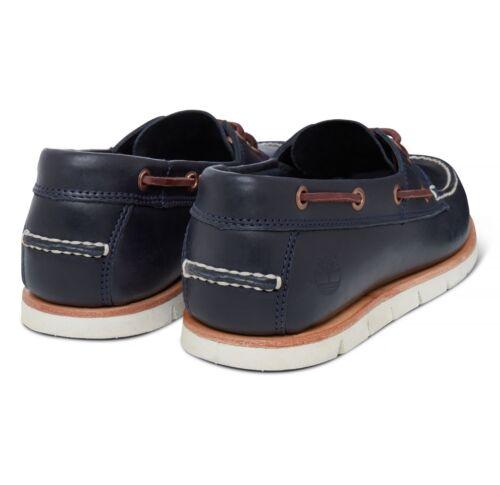 Timberland Tidelands Indigo Casual Eyes Bleu Nautiques Cuir Chaussures 2 Couvert TTxwqBUr