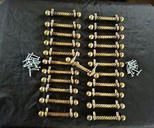 "23 pcs antique look Drawer Brass Handle Cabinet  Door Dresser Pull 3"" on center"