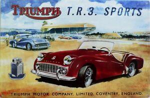 TRIUMPH-T-R-3-SPORTS-Classic-Auto-Memorabilia-Metal-tin-Sign