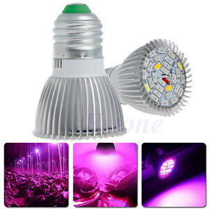 28W E27 LED Hydroponic Plant Growing Light Veg Flower Indoor Lamp