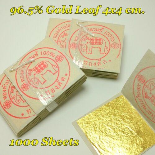 100 Sheets Gold Leaf 96.5/% Genuine Gold Gilding Art Work Craft Buddhist Image