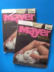 Vtg Mayer Bunny Soft Pantyhose Sandalfoot