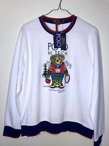 NWT Polo Ralph Lauren Hi Tech Polo Bear Crewneck Sweatshirt White ... c5a46dcf34a