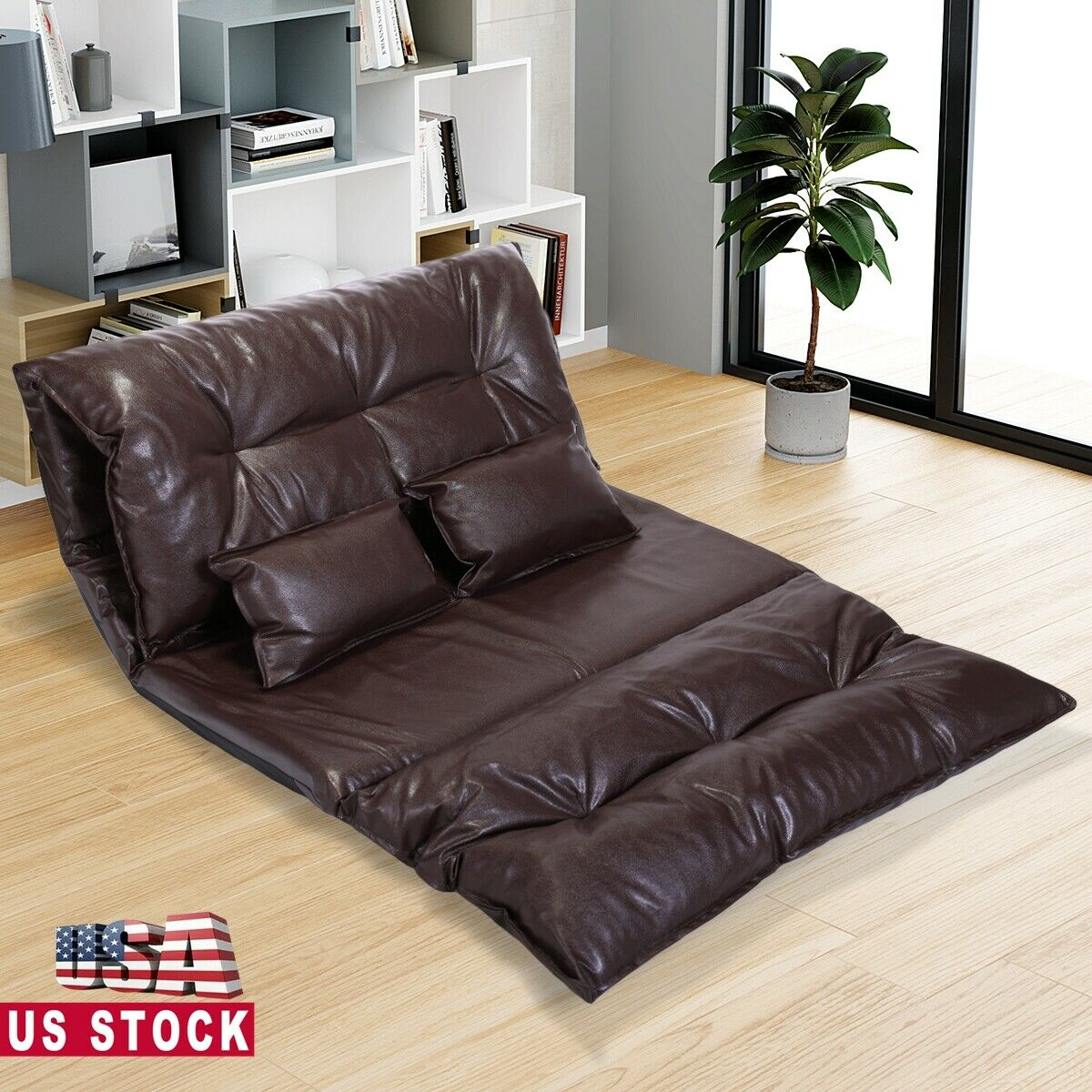 Picture of: Leather Chaise Lounge Chair Sofa Bedroom Lay Back Relax Comfy Upholstered Brown For Sale Online Ebay