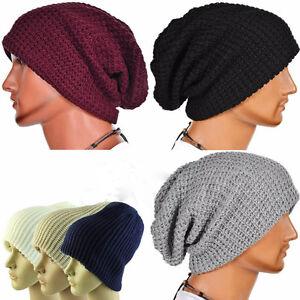 Fashion Men Winter Knitted Hat Caps Bonnet Hats Beanie Crochet ... d12907454ba