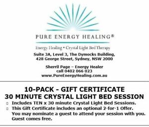 10-PACK-30-Minute-Crystal-Light-Bed-GIFT-CERTIFICATE-INCLUDES-BONUS-2-FOR-1