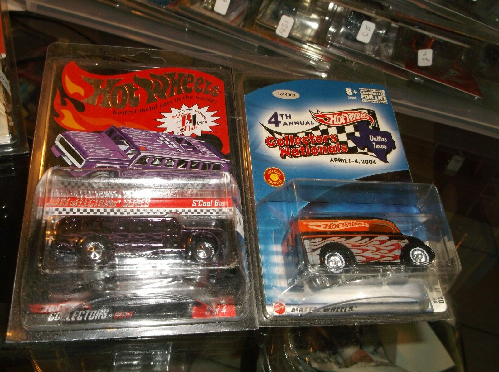 HOT WHEELS 4th COLLECTORS DAIRY DELIVERY & RLC S'COOL BUS