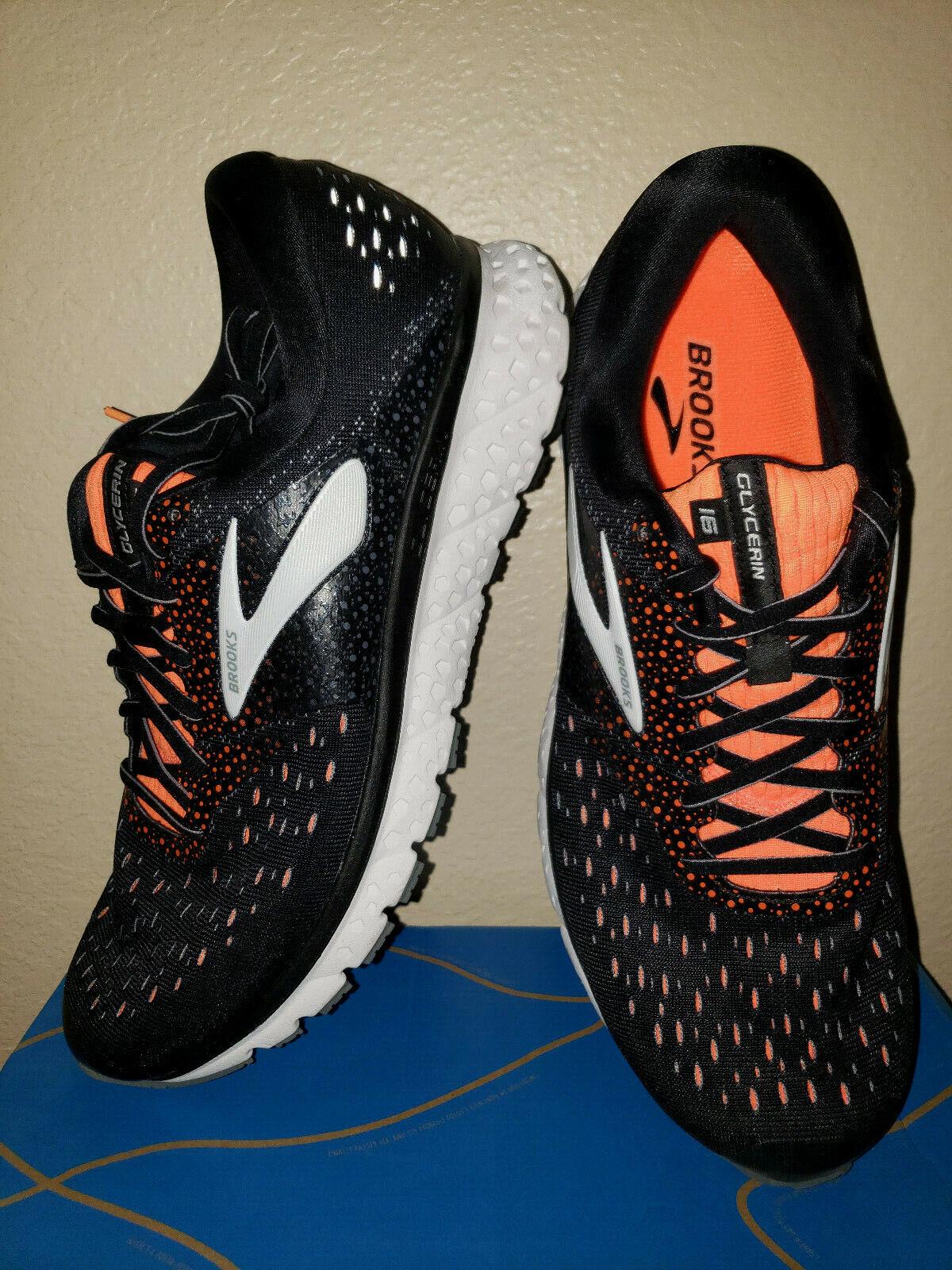 Nouveau Homme 12.5 2E Glycerin 16 Route chaussures De Course noir Orange neutre