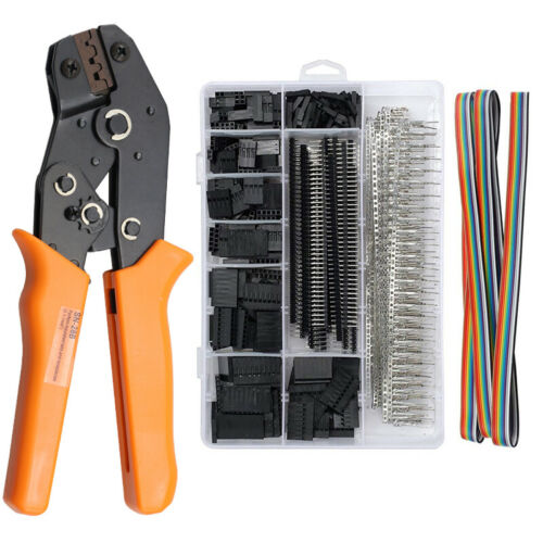 0.1-1.0mm² Crimping Tool Wire Crimper Plier 770pcs Dupont Connector Terminal Kit