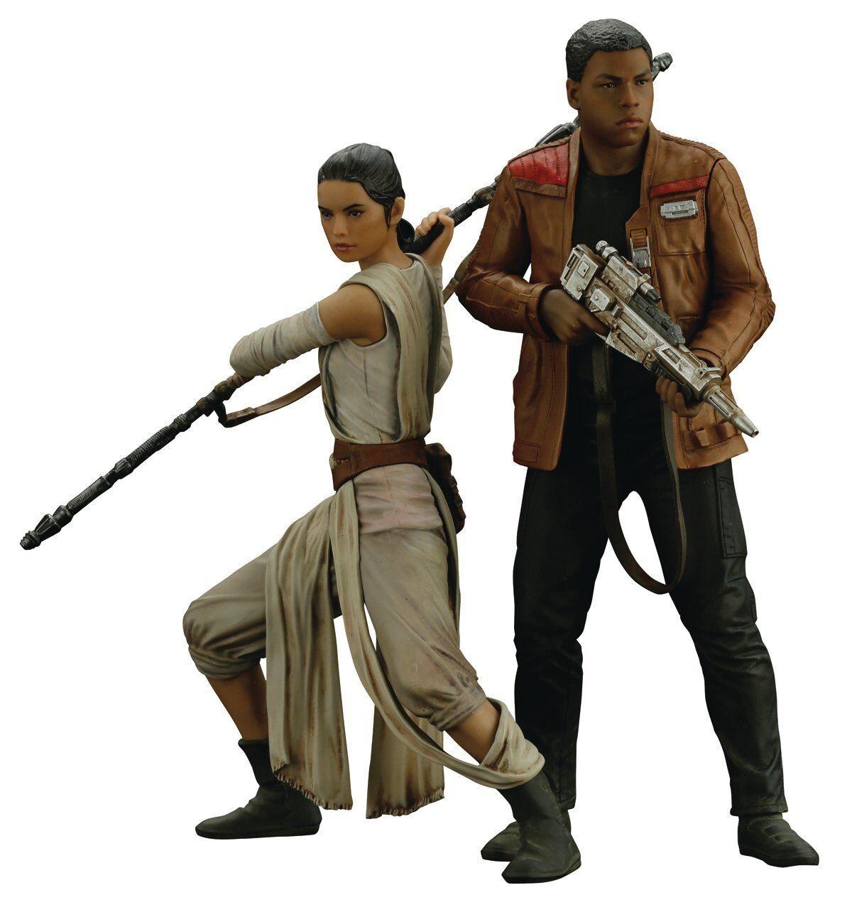 Star Wars 1/10 The Force Awakens Rey and Finn ArtFX+ Statue Kotobukiya