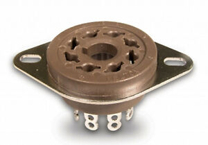 VT8-ST BELTON 8 PIN TUBE SOCKETS (Chassis Mount)(6V6GT,6L6GB,EL34)Ships from USA