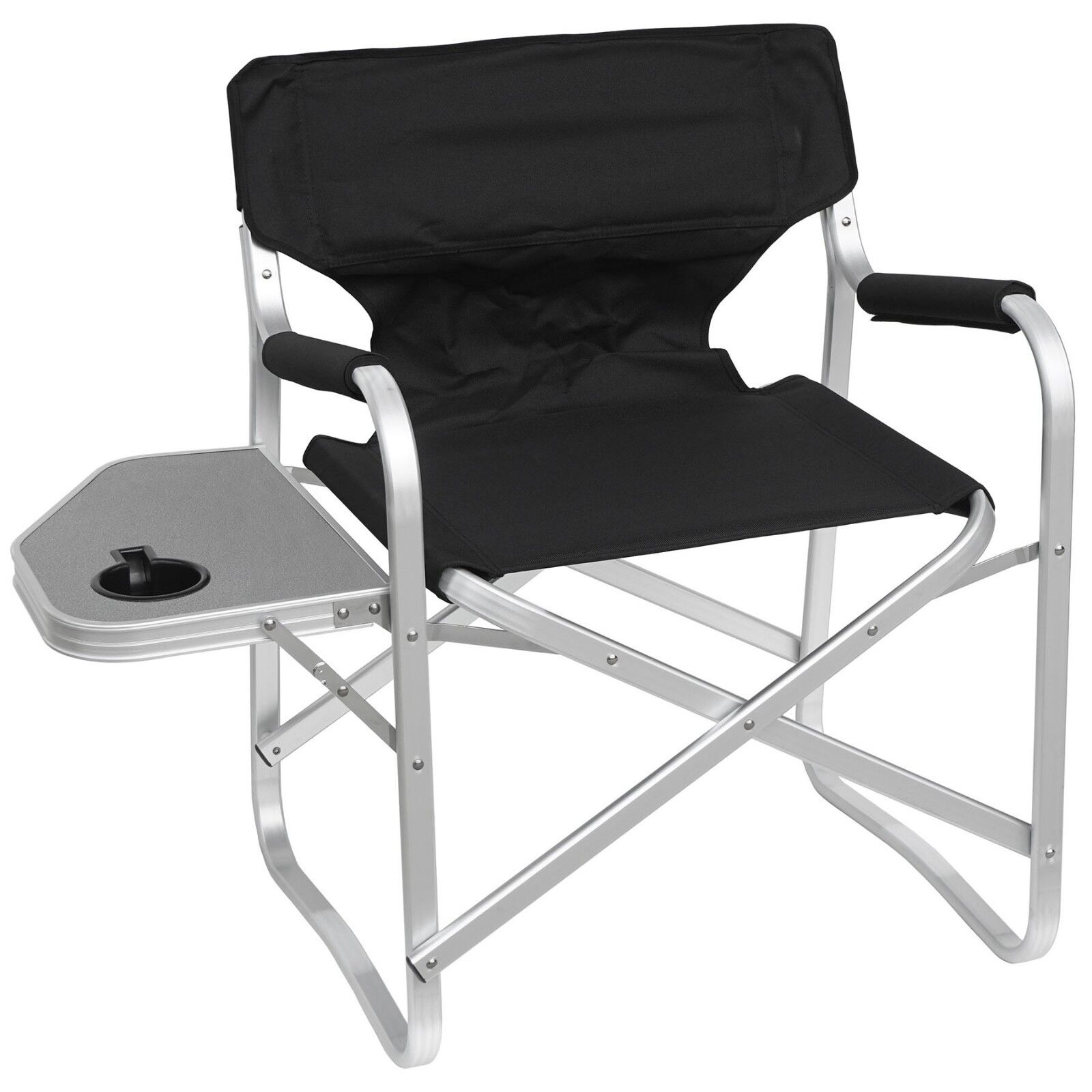 Deluxe Folding Dining Height Heavy Duty Aluminum Frame Director Chair