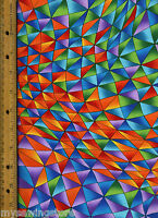 Color Quake 2 Quilt Quilting Fabric By Half Yard 6225-205 Geometric Multicolor