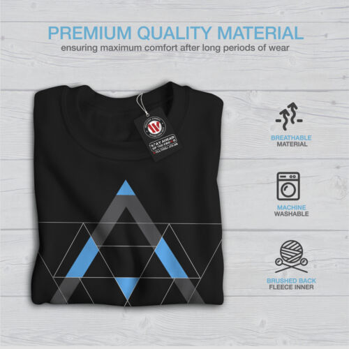 Pattern Casual Pullover Jumper Wellcoda Triangles Shapes Mens Sweatshirt
