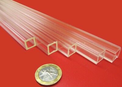 """Acrylic Square Tube Clear Extruded  3//4/"""" SQ x .125/"""" Wall x 72/"""" Length 099"""