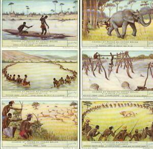 LIEBIG : S_1534 : Chasse et pêche au Congo Belge