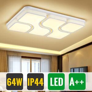 64W LED Deckenleuchte Schlafzimmer Deckenlampe Wohnzimmer Flur ...