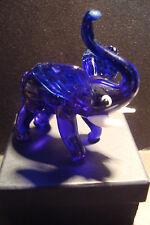 Genuine Handmade  Spun Glass ~Elephant~Figure~Ornament~Animal~Boxed~B~uk seller