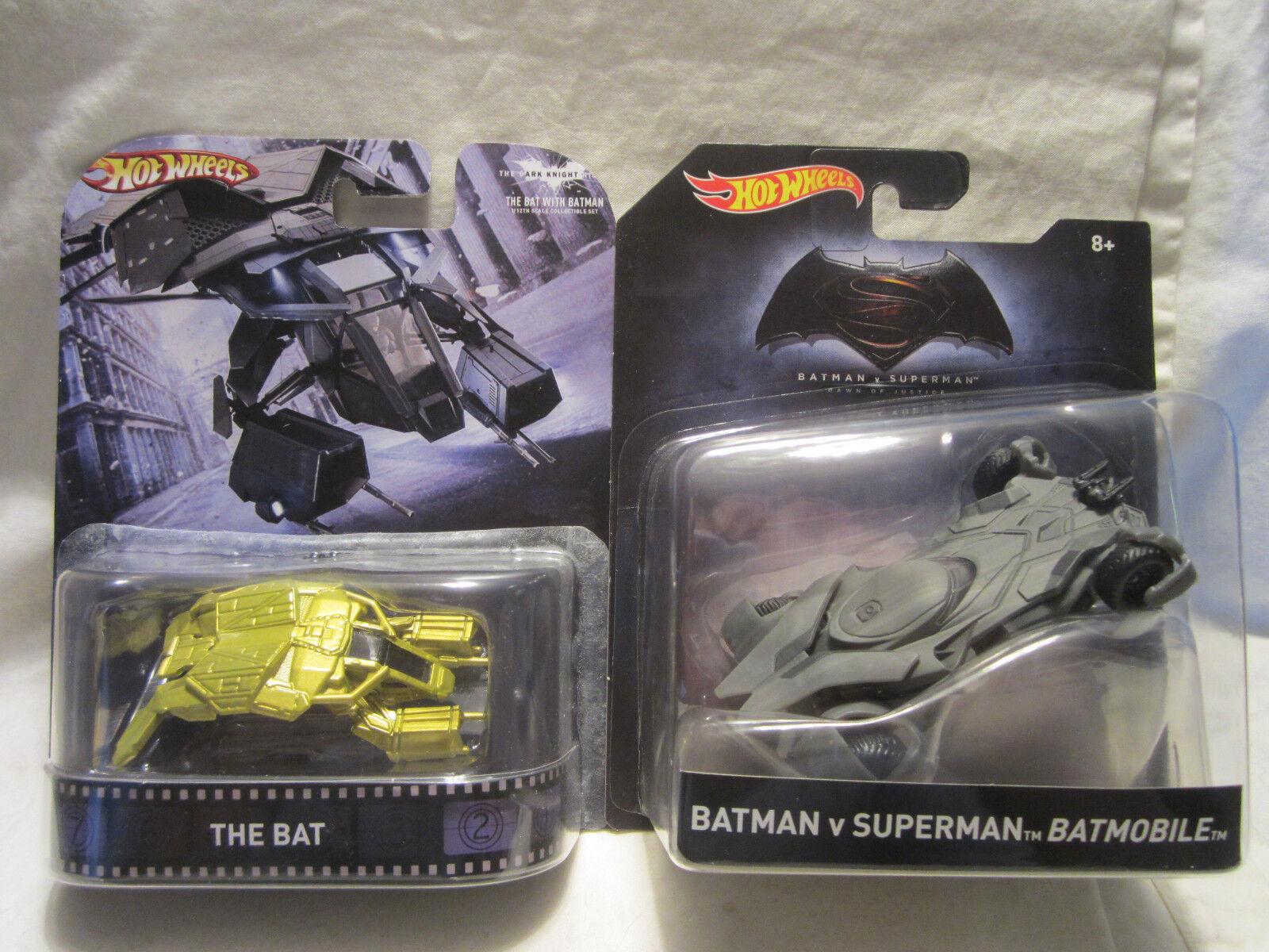 Hot Wheels Custom THE BAT Vehicle & Batman Vs Superman BATMOBILE