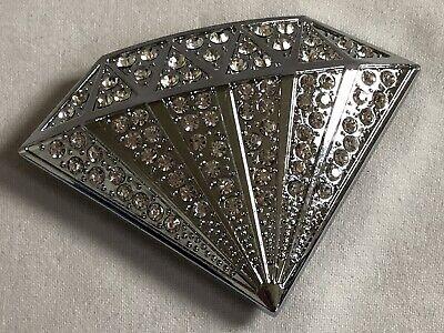 Bling Clear Rhinestones Silver Diamond HIP HOP Fashion Metal Belt Buckle