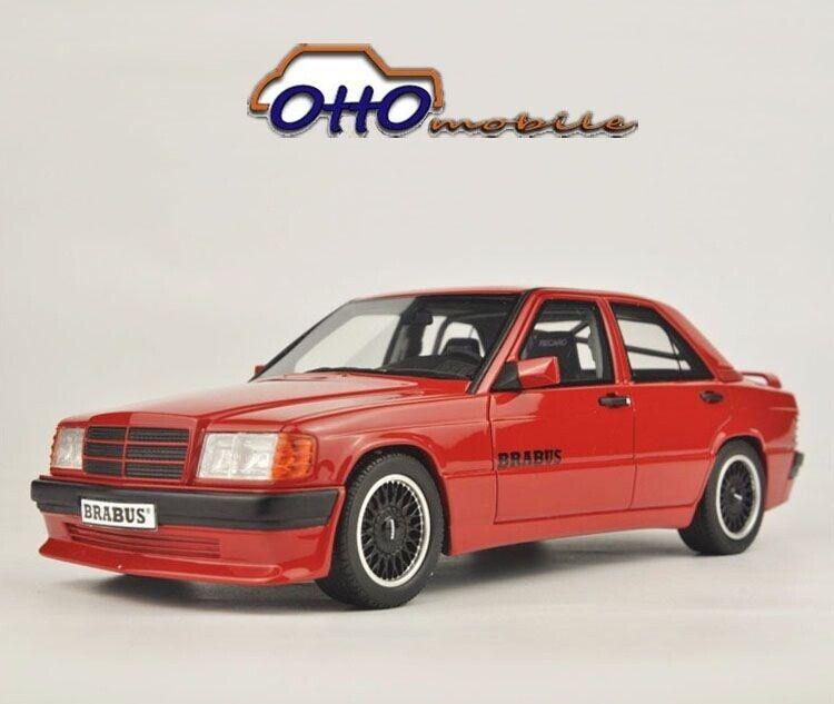 1 18 Otto mobile Model Mercedes Benz Brabus 190E 3.6S W201 Red OT674
