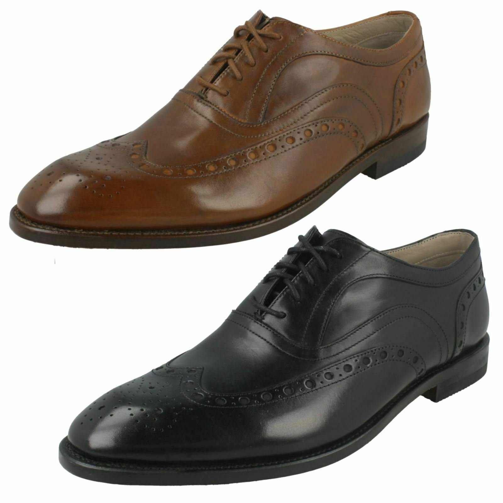MENS CLARKS LEATHER DRESS SMART FORMAL BROGUES LACE UP SHOES SIZE TWINLEY LIMIT