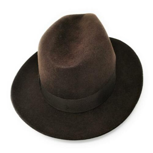 0fb999fefeb39 2 of 4 Indiana Style Wool Felt Fedora Hat - Mens Indiana Jones Inspired  Lined Hat