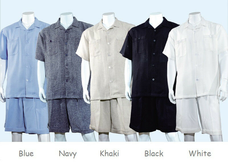 Men's 2 Piece Shorts Set Short Sleeve Casual Shirt With Shorts Set