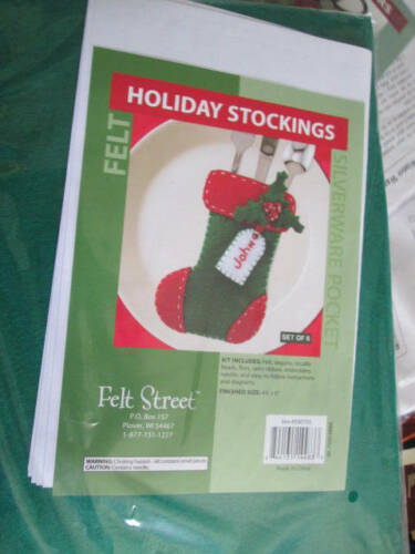 Felt Street Craft Kit Your Choice-Holiday Stocking Silverware Pocket//Winter Warm