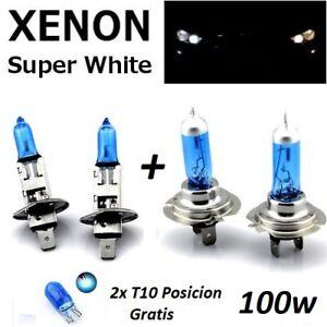 Bombillas-H1-H7-100w-12v-halogenas-luz-blanca-caja-original-T10-de-regalo