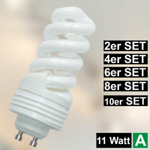 9 Watt Energie Spar Leuchtmittel 420lm GU10 Reflektor Strahler 2700K Lampe EEK A