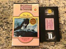 THE TEN COMMANDMENTS RARE BIG BOX CLAMSHELL VHS 1979 JOHN MARLEY, ANSON WILLIAMS