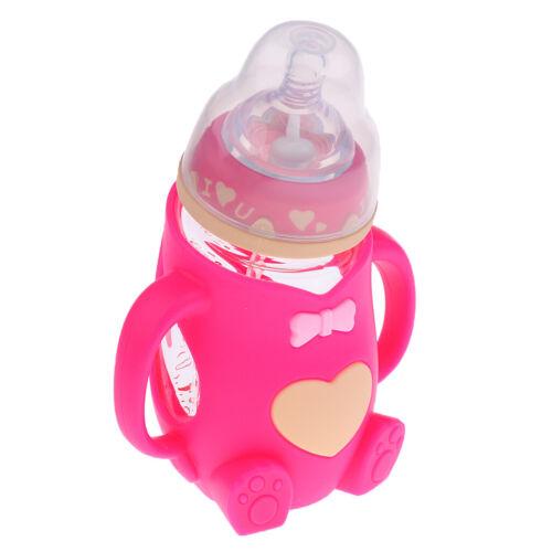 240ML Säuglings Baby Anti Colic Glas Fütterung Milchflasche mit